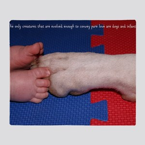 Pitter Patter Paws Throw Blanket