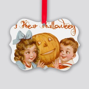 I hear Halloween Picture Ornament