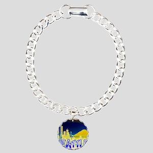 Seattle Washington Golde Charm Bracelet, One Charm
