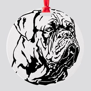 Dogue De Bordeaux. Round Ornament