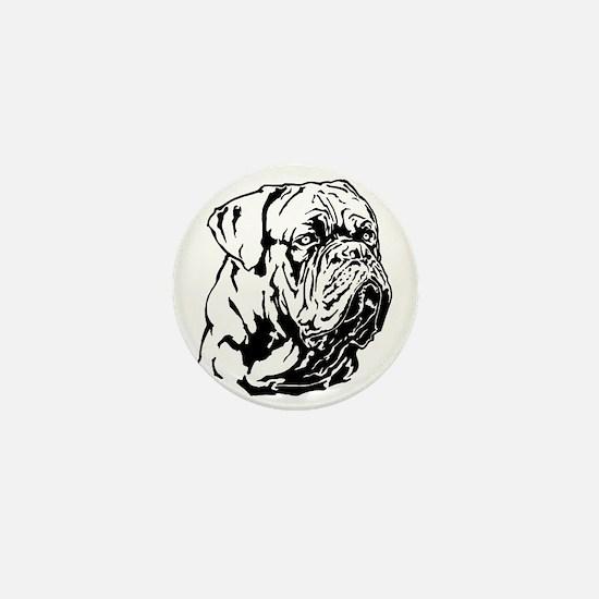 Dogue De Bordeaux. Mini Button