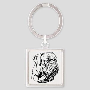 Dogue De Bordeaux. Square Keychain