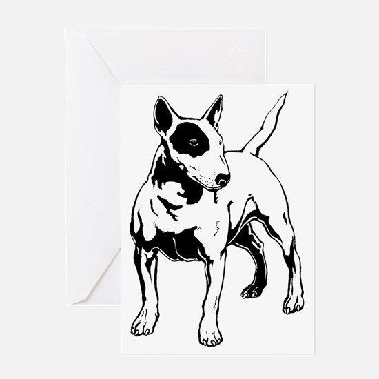 English Bull Terrier Greeting Card