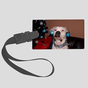 Bulldog Bauble Large Luggage Tag