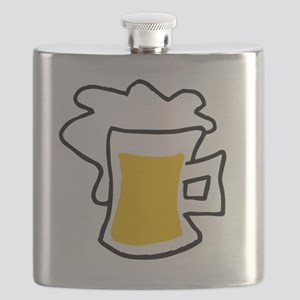 Big glass of beer Flask