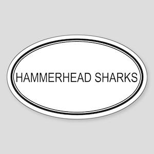 Oval Design: HAMMERHEAD SHARK Oval Sticker