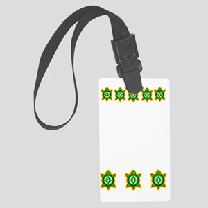 SOUTHEASTERN TRIBAL TURTLE Large Luggage Tag