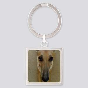 Look of Innocence  Square Keychain