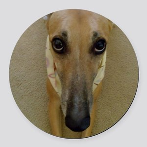 Look of Innocence  Round Car Magnet