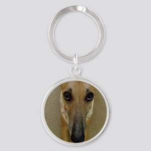 Look of Innocence  Round Keychain