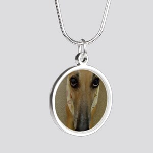 Look of Innocence  Silver Round Necklace