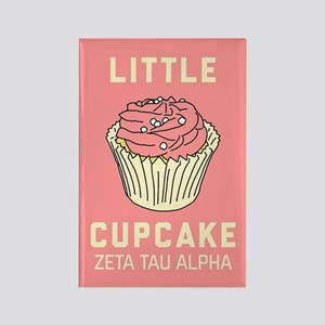 Zeta Tau Alpha Little Cupcake Rectangle Magnet