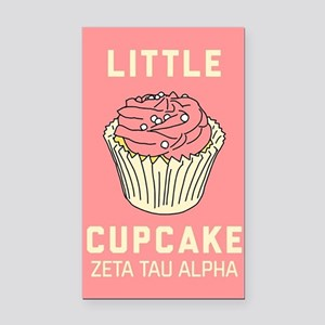 Zeta Tau Alpha Little Cupcake Rectangle Car Magnet