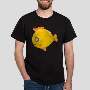 Yellow Fish Dark T-Shirt