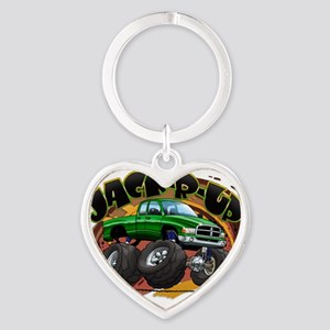 Green Jack-R-Up Ram Heart Keychain