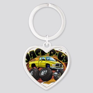 Yellow Jack-R-Up Ram Heart Keychain