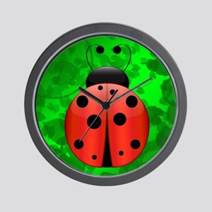 Single Ladybug Wall Clock