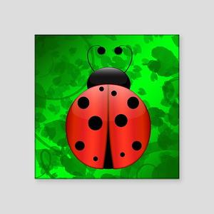 "Single Ladybug Square Sticker 3"" x 3"""