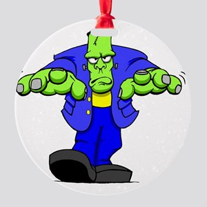 Cartoon Frankenstein Round Ornament
