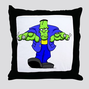 Cartoon Frankenstein Throw Pillow