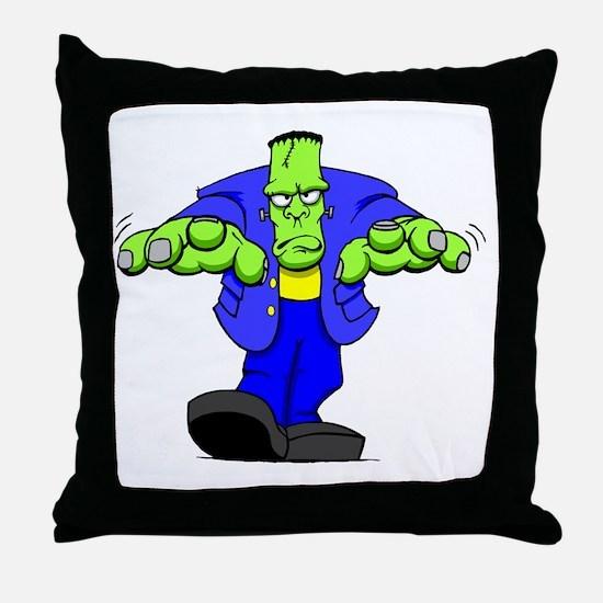 Cartoon Frankenstein Throw Pillow