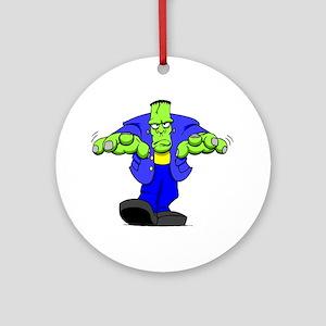 Cartoon Frankenstein Round Ornament