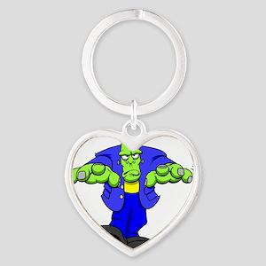 Cartoon Frankenstein Heart Keychain