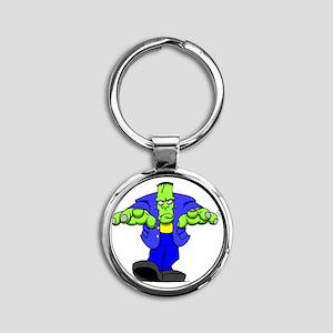 Cartoon Frankenstein Round Keychain