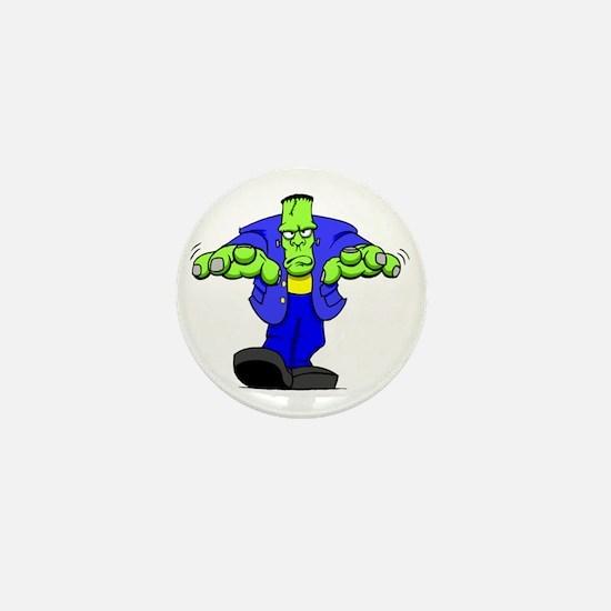 Cartoon Frankenstein Mini Button