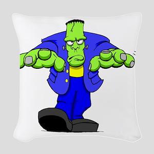 Cartoon Frankenstein Woven Throw Pillow