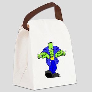 Cartoon Frankenstein Canvas Lunch Bag
