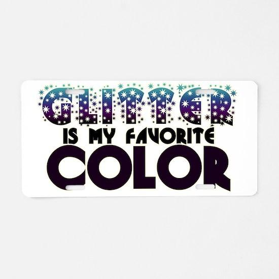 Glitter Freak Aluminum License Plate