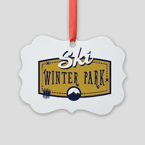 Ski Winter Park Patch Picture Ornament