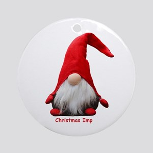 Christmas Imp Round Ornament