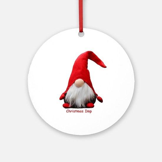Christmas Imp Round Ornament