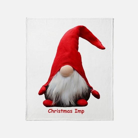 Christmas Imp Throw Blanket