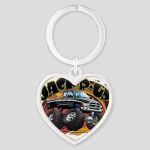 Black Jack-R-Up Ram Heart Keychain