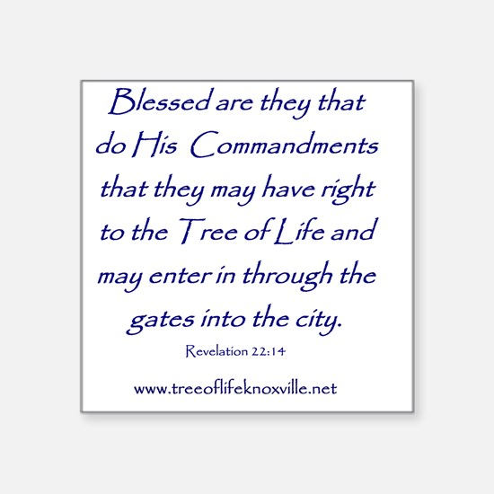 "Tree of Life Knoxville Vers Square Sticker 3"" x 3"""