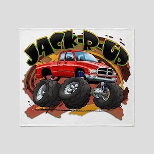 Red Jack-R-Up Ram Throw Blanket