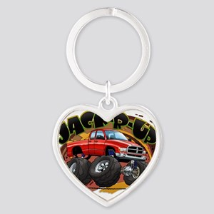 Red Jack-R-Up Ram Heart Keychain