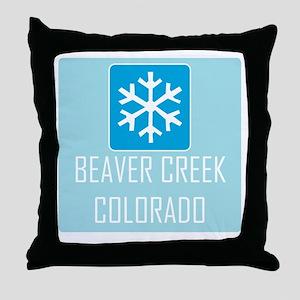 Beaver Creek Snowflake Throw Pillow