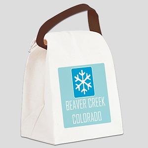 Beaver Creek Snowflake Canvas Lunch Bag