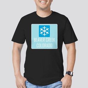 Beaver Creek Snowflake Men's Fitted T-Shirt (dark)