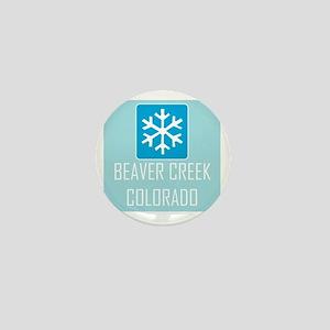 Beaver Creek Snowflake Mini Button
