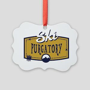 Ski Purgatory Patch Picture Ornament
