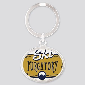 Ski Purgatory Patch Oval Keychain