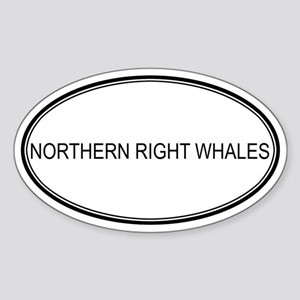 Oval Design: NORTHERN RIGHT W Oval Sticker