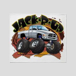 White Jack-R-Up Ram Throw Blanket
