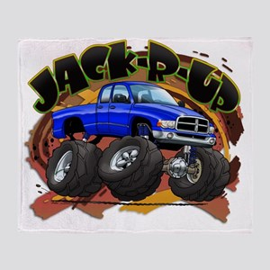 Blue Jack-R-Up Ram Throw Blanket