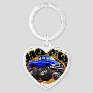 Blue Jack-R-Up Ram Heart Keychain